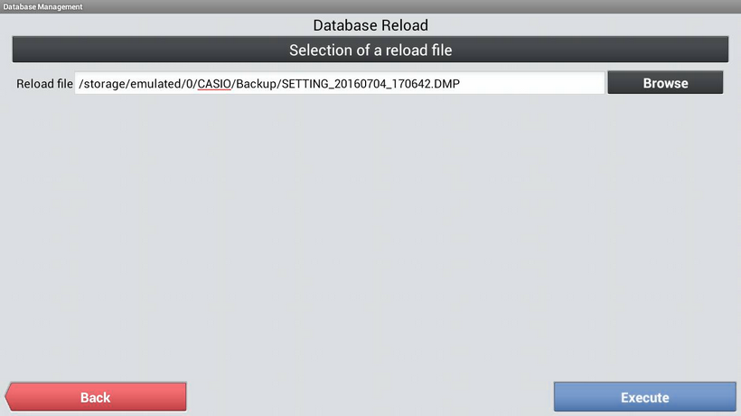 System DB Database Reload