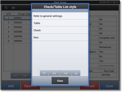 Check Table List Style