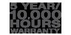 Industry-leading Warranty